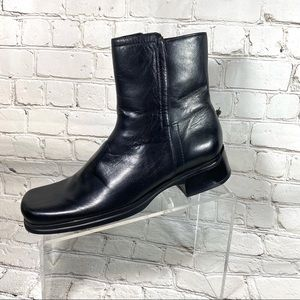 Nine West black leather ankle boots sz 8